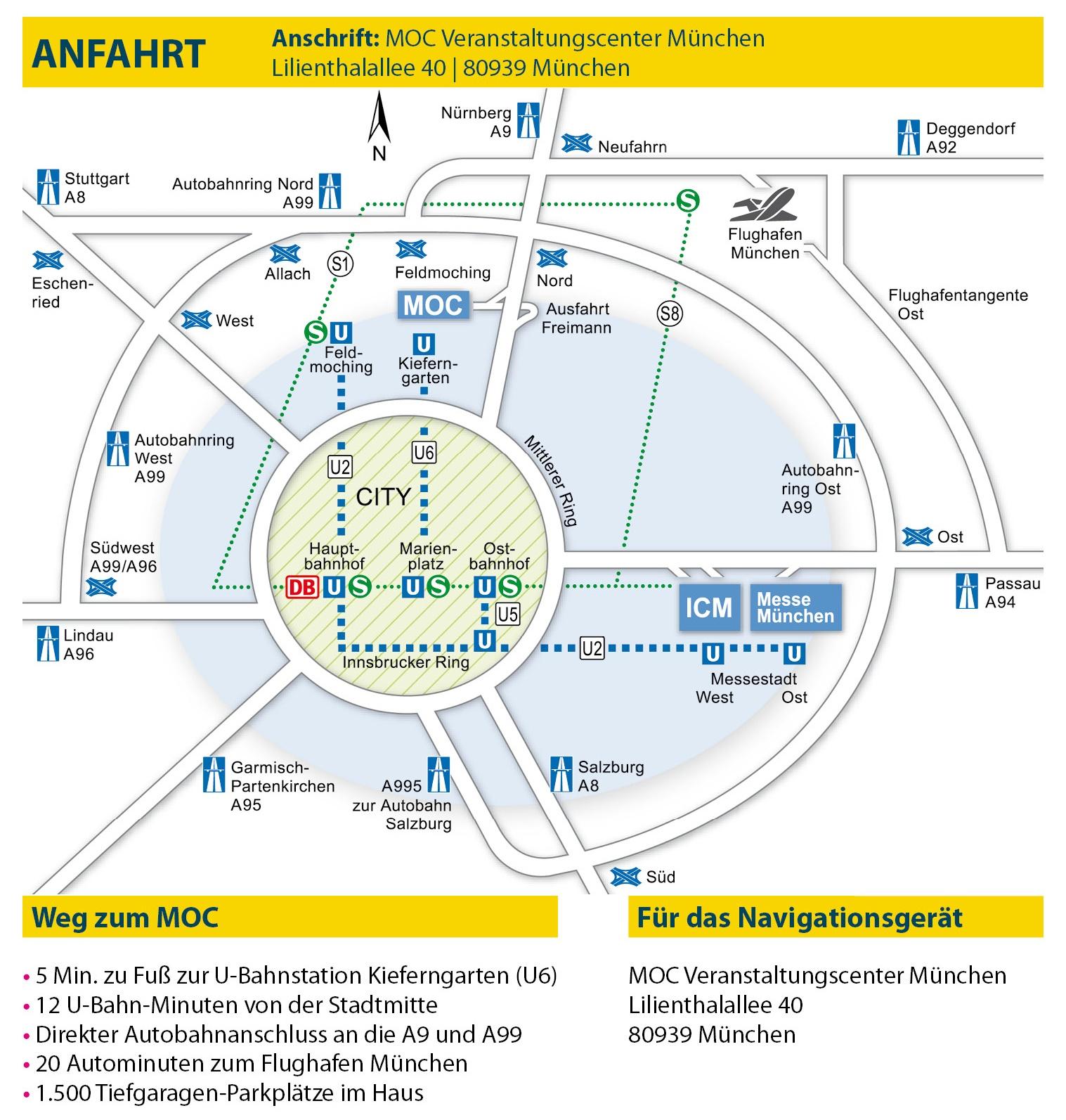 Anreise - Adresse - Öffnungszeiten - Parken - Routenplaner - azubitage.de