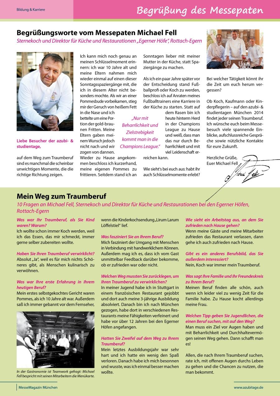 Traumberuf: Sternekoch   Messepate München 2014   Michael Fell   Sternekoch  Und Direktor Für Küche